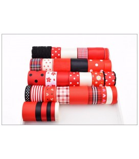Lote de cintas y lazos - Serie Roja 01 - Manualidades - Accesorios Pelo