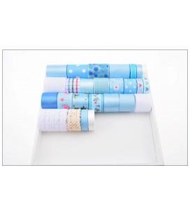 Lote de cintas y lazos - Serie Azul 01 - Manualidades - Accesorios Pelo