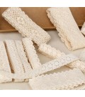 Set de 30 metros de encaje de algodón - Serie Blanco y Beige 01 - Manualidades - Accesorios