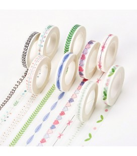 Washi Tape - Cintas decorativas - Celo japonés - Scrapbooking - Manualidades