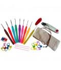 Set básico de crochet - ganchillo - agujas - accesorios - marcadores - Amigurumi