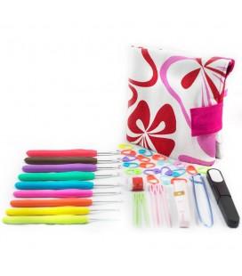 Lote básico de crochet - ganchillo - agujas - accesorios - marcadores - Amigurumi