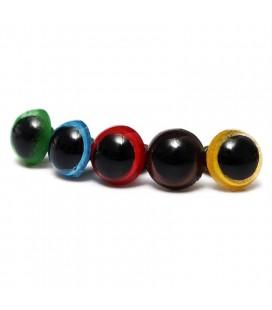 100 piezas - 8 mm - Ojos de Seguridad para muñecos - Amigurumi - Peluches