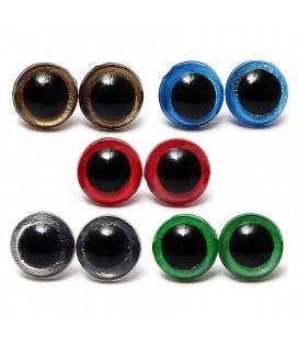 100 piezas - 10 mm - Ojos de Seguridad para muñecos - Amigurumi - Peluches