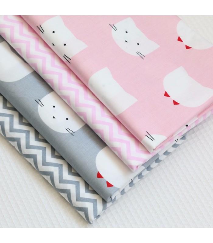 Set de telas coordinadas gatos fat quarters costura patchwork manualidades comando craft - Set de costura ...