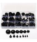 154 piezas - Ojos de Seguridad para muñecos - Amigurumi - Niños - De 6 a 24mm