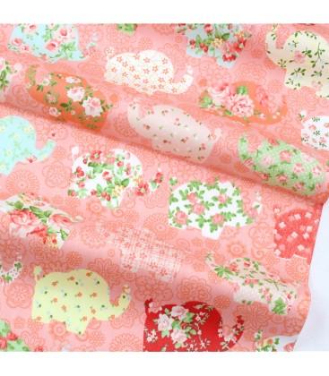 Tela de algodón con motivo de patchwork Elefantes - Costura - Manualidades