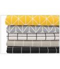 Telas de lino de algodón - Geométricos  - Manualidades - Costura - Patchwork