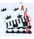 Tela de algodón coordinadas en blanco y negro - Serie 2 - Costura - Manualidades