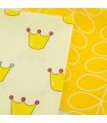 Tela de algodón Coronas - Amarillo  - Costura - Patchwork - Manualidadees
