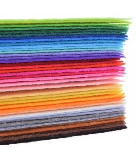 Lote de 40 laminas de fieltro de 20 x 30 cm -  Grosor: 1mm