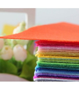 Lote de 40 colores de láminas de fieltro de 15x15cm - Grosor: 1mm
