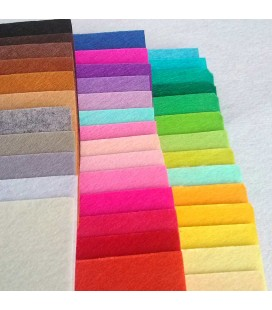 Set de 40 colores de láminas de fieltro de 10x15cm - Grosor: 1mm