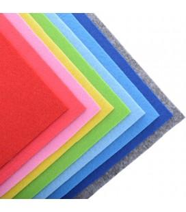 Set 9  láminas de fieltro de colores - 30x30 cm - Grosor: 2mm