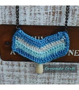 Collar Crochet Zig Zag  - Mod. Rosa