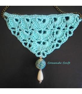 Collar Crochet Verde Agua - Triángulo