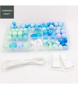 Lote de bolas y cuentas de silicona - Joyería para Bebés y mamás - Mod. 2