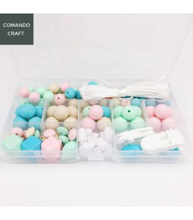 Lote de bolas y cuentas de silicona - Joyería para Bebés y mamás - Mod. 3
