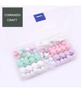 Lote de bolas y cuentas de silicona - Joyería para Bebés y mamás - Mod. 4