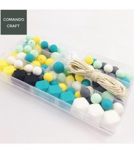 Lote de bolas y cuentas de silicona - Mordedores  y collares de lactancia - Mod. 6