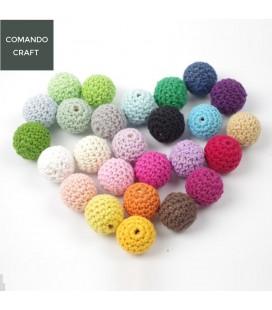 Lote de 5 unidades de cuentas de crochet - 20mm