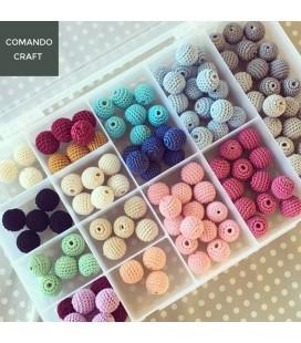Lote de 10 unidades de cuentas de crochet - 16mm