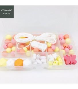 Lote DIY con cuentas de silicona alimenticia para joyería y manualidades - Mod. 14