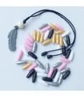 Lote de 10 pares - Cierres de plástico para joyería y bisuteria DIY