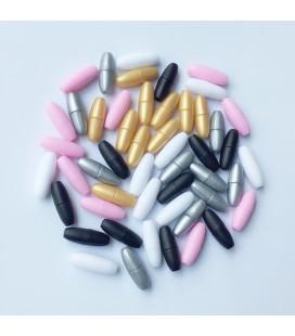 Lote de 100 pares - Cierres de plástico para joyería y bisuteria DIY