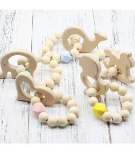 Pulsera mordedor de madera para bebés - Mordedores Montessori
