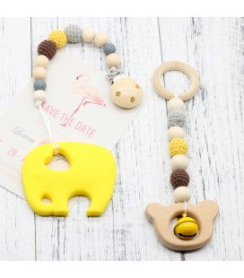 Lote  Mordedor - Colgante Cuna - Montessori - Juguetes para bebés