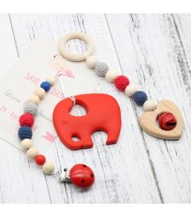 Lote Cadena para el chupete y colgante Cuna - Montessori - Juguetes para bebés