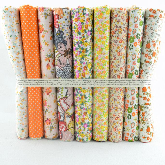 Retales patchwork tonos naranja - Telas de tapizar baratas ...