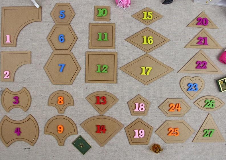 Lote de 27 plantillas para telas patchwork - Quilting - Herramientas ...